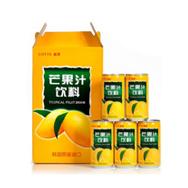 韩国原装进口乐天芒果汁饮料 一箱 180mlx15灌